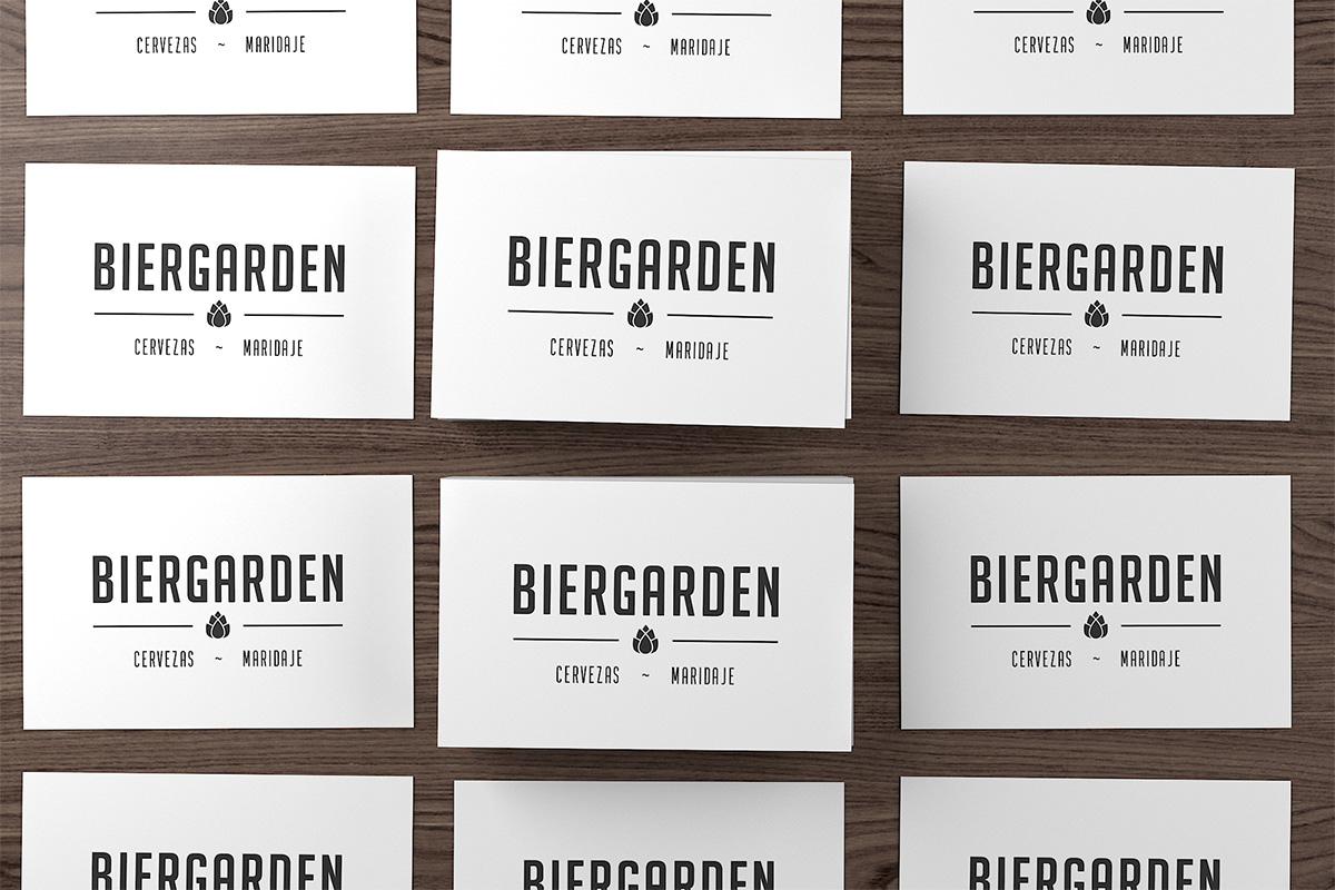 Tarjetas de visita Biergarden